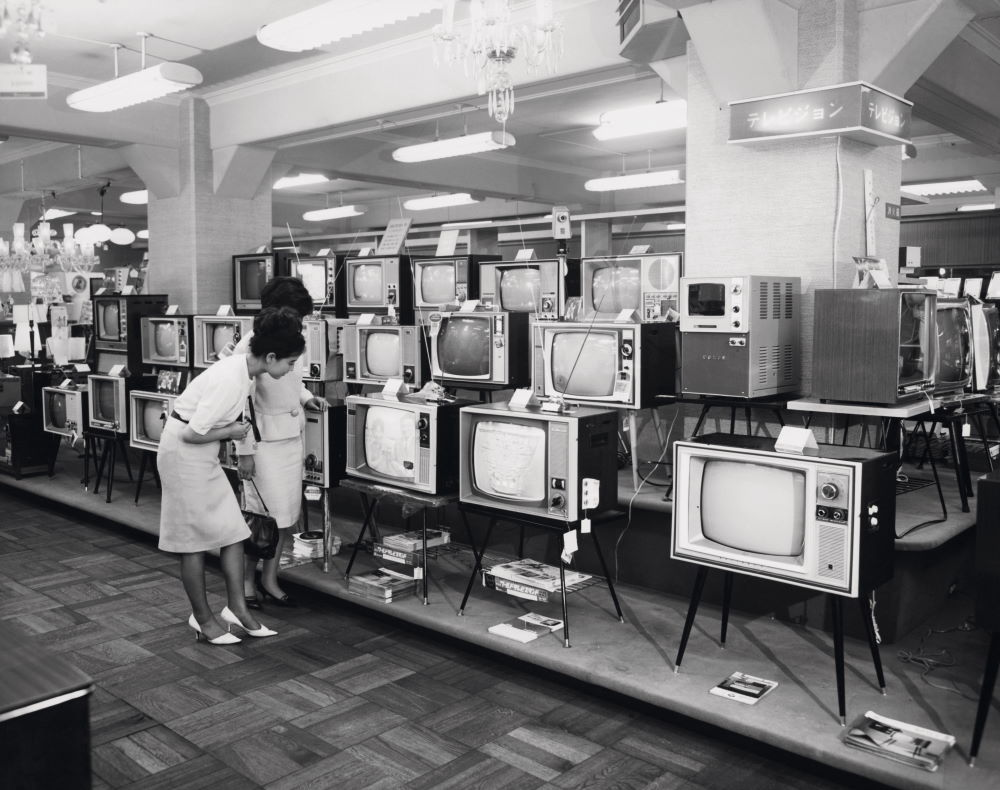 Japan, Tokyo, in a local television, 1950-60